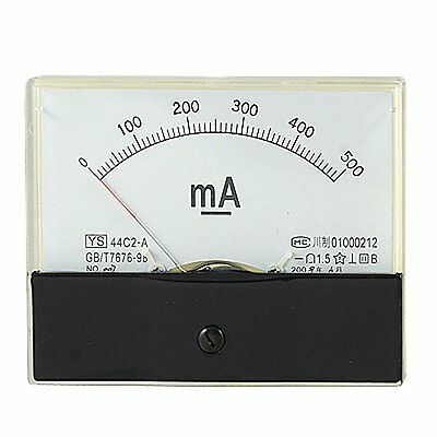 1dc 500ma Analog Panel Amp Current Meter Ammeter Gauge 44c2 Dc 0-500ma
