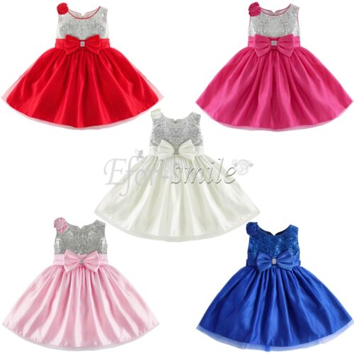 Flower Girl Princess Tutu Dress Kids Party Pageant Wedding ...