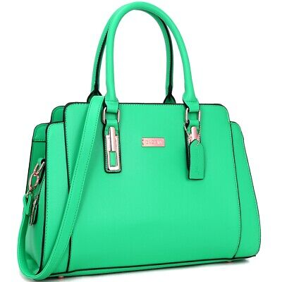 Dasein Women Handbags Candy-Colored Work Satchel Bags Tote Bag Large - Candy Purses