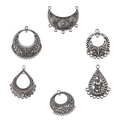 Wholesale 5pc Antique Silver Boho Tribal Charm Pendant Earring Necklace Findings