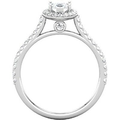 2.00 Ct Marquise Cut Diamond Halo Round Accents Engagement Ring I,VS2 GIA 18K WG 4