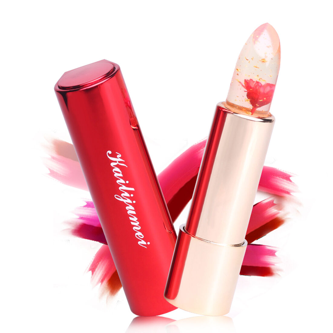 Kailijumei Flower Jelly Lipstick 100 Original Barbie Doll Powder Ready Stock 4 Of 10 Authentic Temperature Change Color H