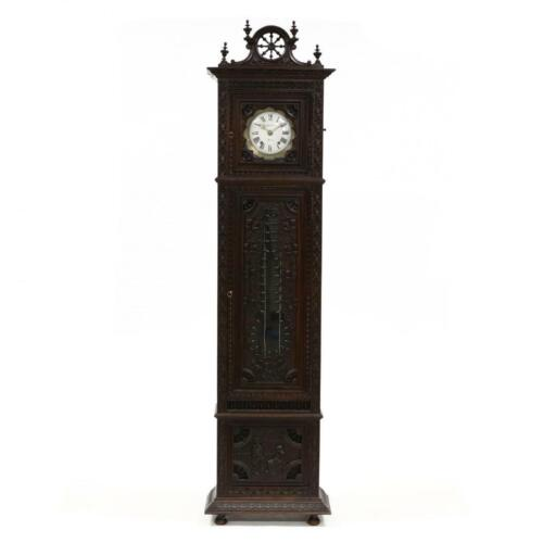Handsome Antique Brittany Carved Oak Tall Case Clock, 19th century ( 1800s )!!!