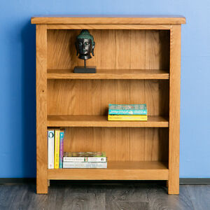 Surrey Oak Small Bookcase / Solid Wood Low Bookcase / Brand New / Rustic Oak