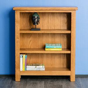 Surrey Oak Small Bookcase / Solid Wood Low Bookcase / Rustic Oak Shelving / New