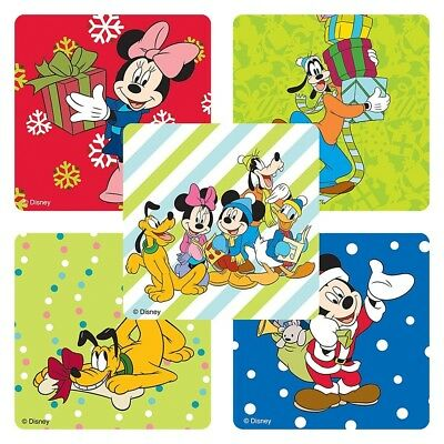 25 Disney Mickey Mouse Christmas Stickers Party Favors #teac