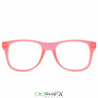 GloFX Ultimate Diffraction Glasses – GLOW In The Dark Pink Frame Rave Dance - Glow In The Dark Rave Wear