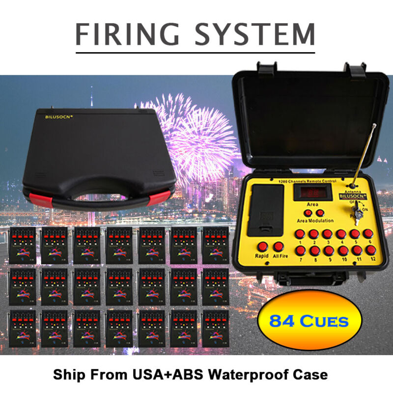 Fee ship 84 Cues fireworks firing system 500M Long distance.Stage effects