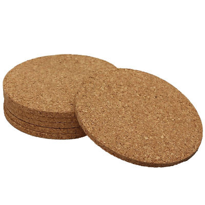 Round Thick Cork Coaster SET OF 6 Pieces 6mm Thick 95mm Diameter Heat Protector Cork Coaster Set
