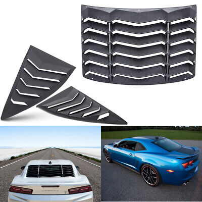 Quarter Side Rear Window Scoop Louver Accessories Kit For Chevy Camaro 2010-2015