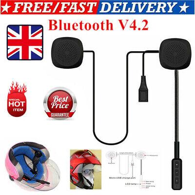 Motorcycle Helmet Bluetooth Headsets Hands Free Headphone Stereo HD Speaker Mic