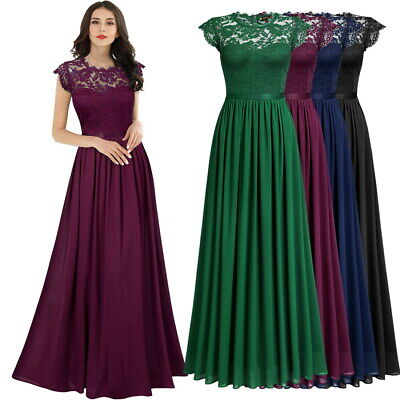 NEW Women's Elegant Lace Chiffon Dress for Prom, Homecoming, Formal, and More! Chiffon Slim Prom Dress