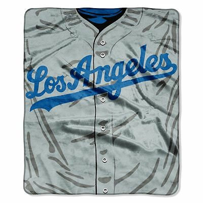 Los Angeles Dodgers 50x60 Plush Raschel Throw Blanket - Jersey Design [NEW] MLB ()
