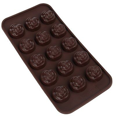 Rose Flower Silicone Soap mold Candy Chocolate Fondant Tray mould ICE Cube Mini