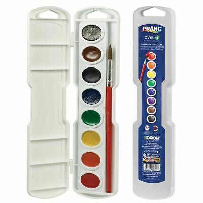 Prang Semi-Moist Watercolors 8-Color Oval Pan Set  - Oval Pan, 8-Color Set (Prang Watercolors)
