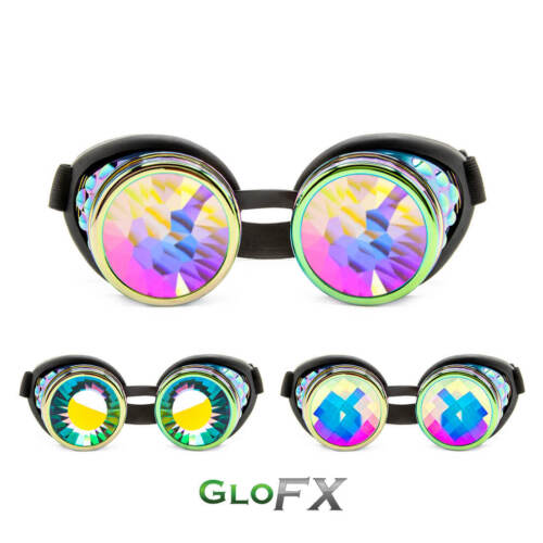 GloFX Polychrome Kaleidoscope Goggles Opticals Rave Gear Disco Night Show