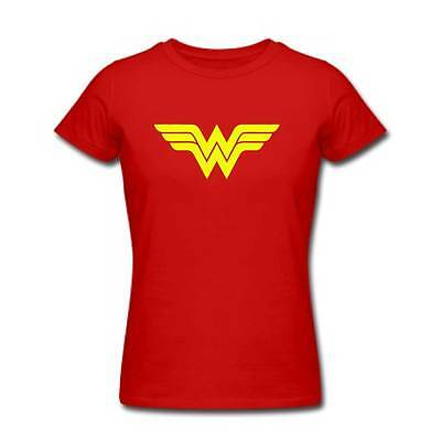 Wonder Woman Tshirt - Womens Ladies KIDS Super Hero Costume Party Top Retro