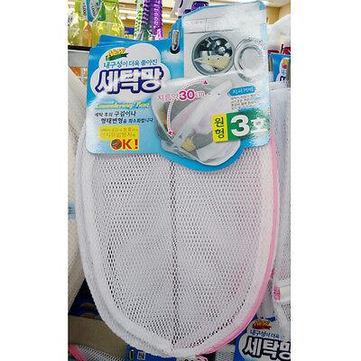 Laundry Mesh Bag Fiber Wash Washing Net Round 30cm Polyester Korea