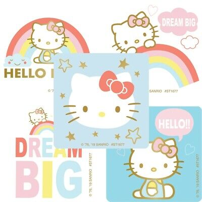 20 Hello Kitty Dream Big STICKERS Party Favors Supplies for Birthday Treat Bags - Hello Kitty Party Supply