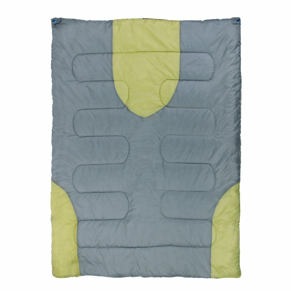 Schlafsack Harrison 2 Personen 200x150 cm -13° Grau/Grün warm wasserabweisend