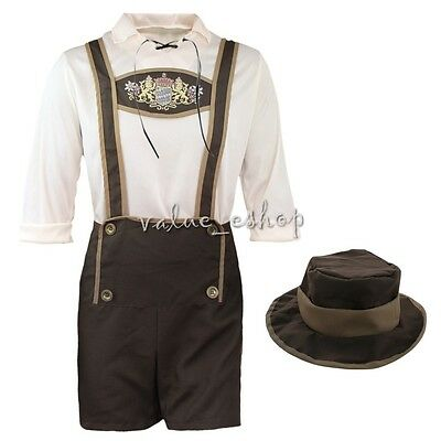 Halloween Men's Bavarian German Lederhosen Oktoberfest Octoberfest Beer Costume