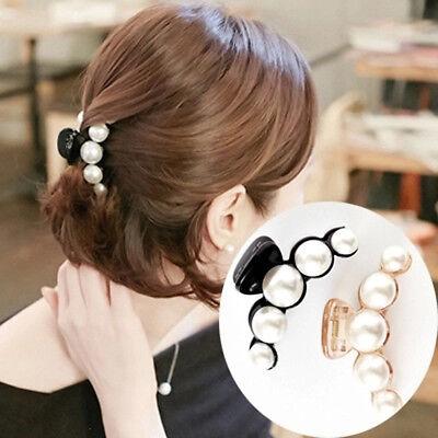 Fashion Pearl Women Girl Hair Clip Claw Barrettes Accessory For Valentine's Day - Valentine Accessories