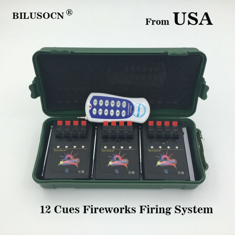Ship From USA Profession 12Cues Wireless remote firewoks firing system stage
