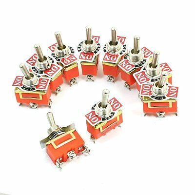10 Pcs Spdt Onoffon 3 Position Panel Mount Toggle Switch 250v 15a