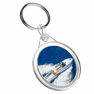 1 x Luxury Yacht Motor Boat Sailing - Keyring IR02 Mum Dad...