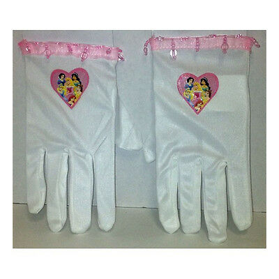 e Child Costume Gloves Ariel Belle Cinderella Jasmine 19244 (Disney Princess Belle Handschuhe)