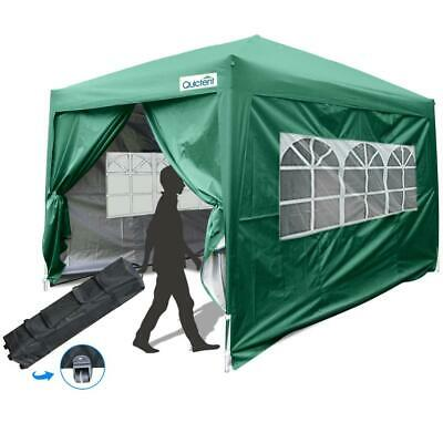 Quictent 10x10 EZ Pop Up Canopy Instant Gazebo Canopy with S