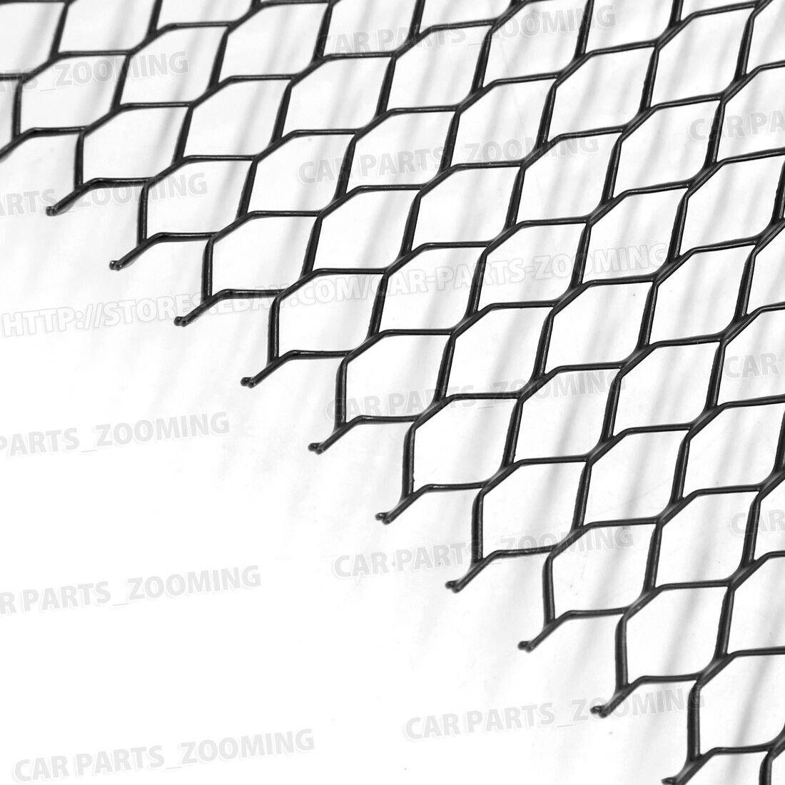 100 x 33cm Black Aluminum Alloy Car Bumper Hexagonal Shape