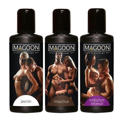 """Magoon 3er Set Massage Öl je 50ml Liebes Öl Moschus Indisches Jasmin Massage""""T33"""