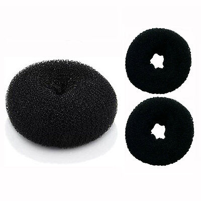 Large Donut (3 Pieces Hair Bun Donut Ring French Rolls (1 Large  2 Small) DIY - US)