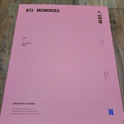 BTS Memories Of 2019 DVD Full Package Opened with V Taehyung Photo card Kpop