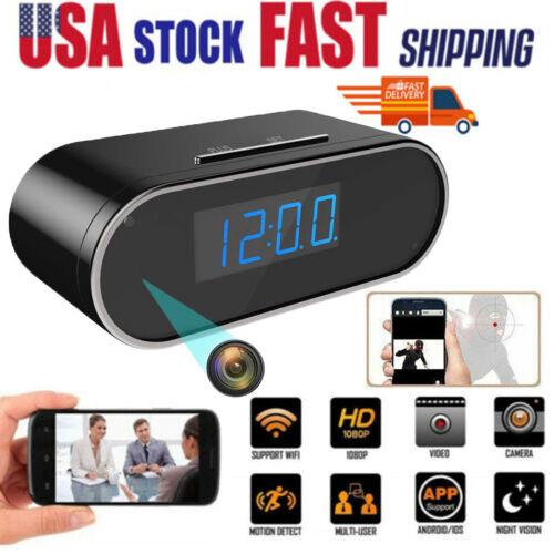 HD 1080P Spy Camera WiFi Hidden Wireless Night Vision Security Nanny Cam Alarm