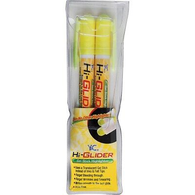 Yasutomo Hi-glider Gel Stick Highlighters - Yellow - Yellow