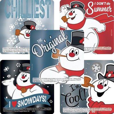 10 Frosty the snowman foil  Stickers Teacher Supply Party favors Christmas - Snowman Favors