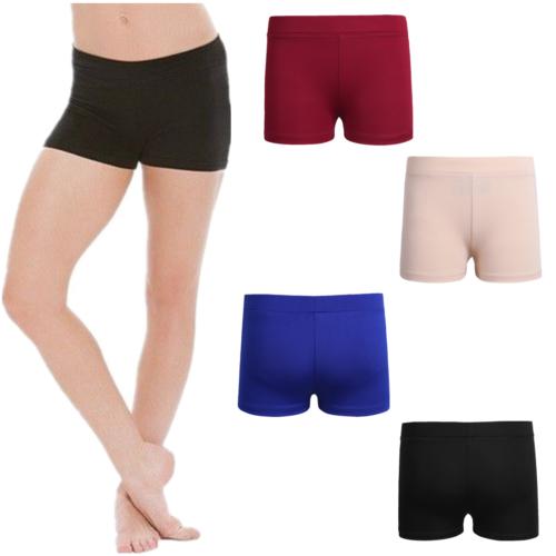 Girls Kids Dance Shorts Booty Boy Cut Fit Trunks Leotard Ballet Gymnastics Pants