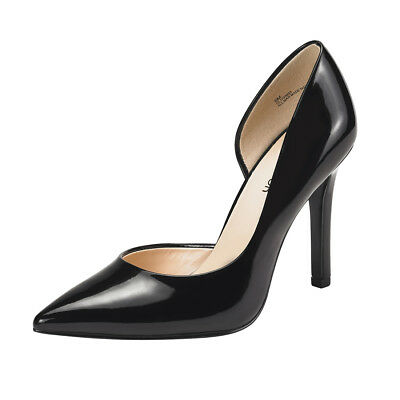 - Women's Black High Heel Shoes Pointed Toe Stiletto Dress Pumps Slip On All Size