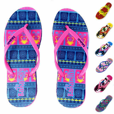 Bahamas Womens Flip Flops Premium Comfort Thong Sandals Slippers Beach Casual Flip Flops New Thong Sandals