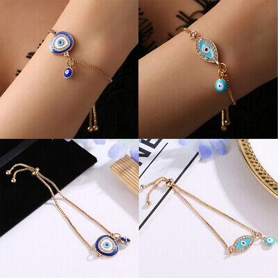 Women's Fashion Jewelry Designer Gold Evil Eye Bracelet Charm Turkish CZ Gift Designer Evil Eye