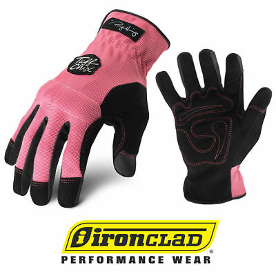 Ironclad Tuff Chix Tcx Premium Womens Work Gloves - Pink - Select Size