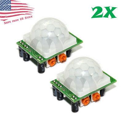 2 Pcs Hc-sr501 Pir Ir Passive Infrared Motion Detector Sensor Module Diy