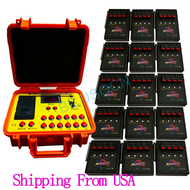 NEW 500M 60 cues fireworks firing system 1200cues wireless control Ship From USA