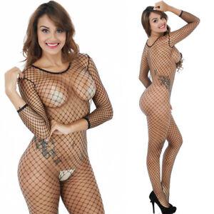 Fishnet Lingerie Babydoll Teddy Body Suit Stocking Party UK