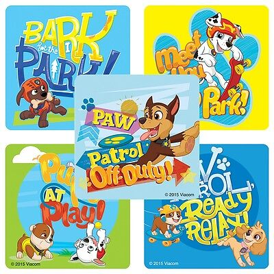 Party Pups Treat Bags - 20 PAW PATROL PUPS STICKERS Party Favors Teacher Supplies Treat Bags Birthday