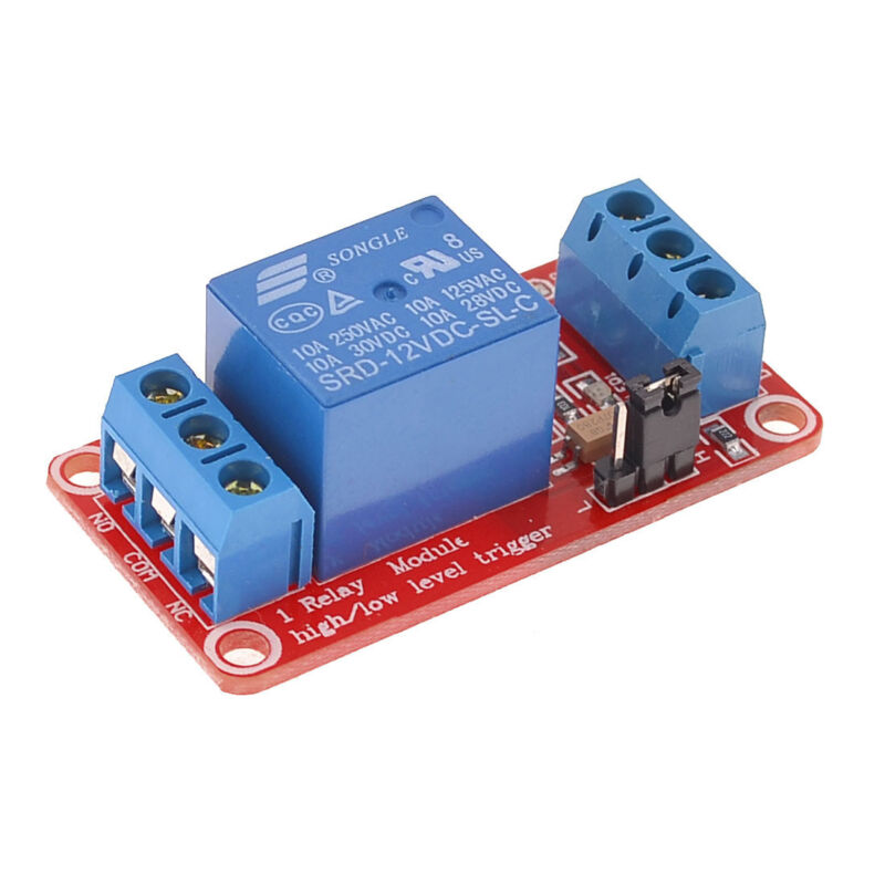 USA 10 PCS 12VDC 1 CHANNEL HIGH OR LOW LEVEL INPUT 10 AMP RELAY BOARD