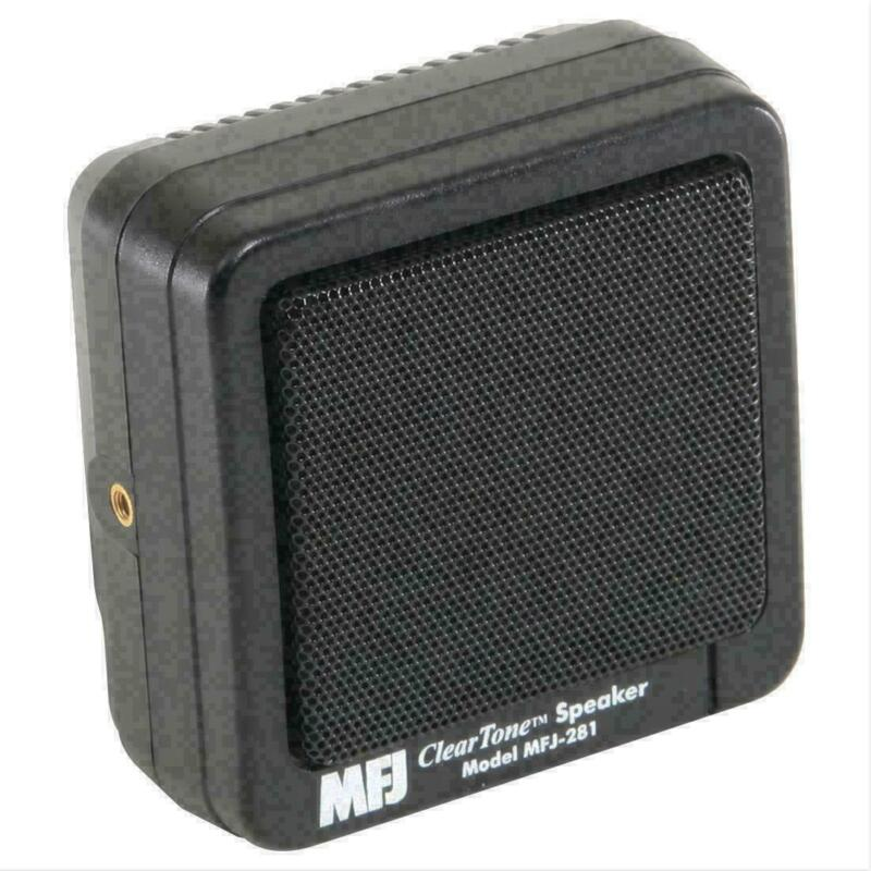 MFJ-281 Clear Tone external Speaker for Mobile Ham CB Radios w/ Mounting Bracket
