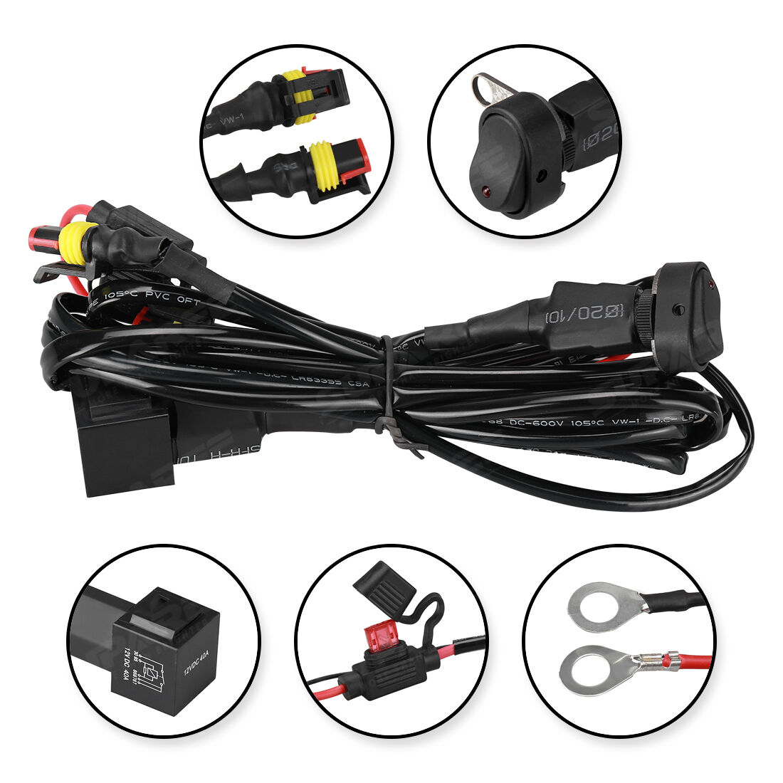 led auxiliary fog lights 40a wiring harness switch for bmw rh picclick com